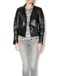 West Coast Leather Padded Moto Jacket
