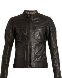 Belstaff Weybridge Waxed Leather Biker Jacket