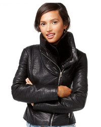 Wildflower Faux Leather Moto Jacket