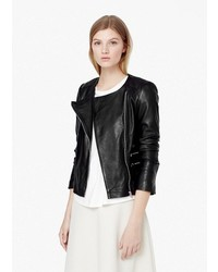 Mango Outlet Zipped Biker Jacket