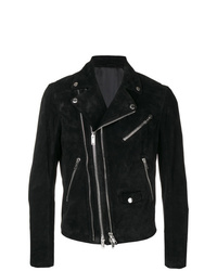 Les Hommes Zipped Fitted Biker Jacket