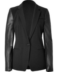 DKNY Cottonleather Blazer In Black