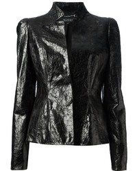Gucci Crushed Leather Blazer