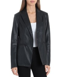 Faux leather blazer medium 8692506