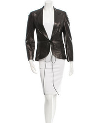 Gucci Fitted Leather Blazer