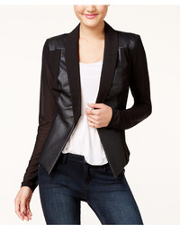 Material Girl Juniors Faux Leather Ilusion Sleeve Blazer Only At Macys