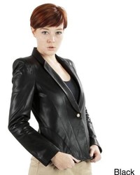 Lb Trading United Face Tailored Leather Blazer