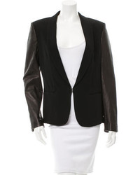 Rag & Bone Leather Accented Long Sleeve Blazer