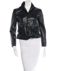 Dsquared2 Leather Notch Lapel Blazer