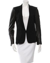 Rag & Bone Leather Trimmed Blazer