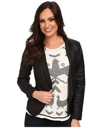 Lucky Brand Leather Blazer