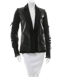 Maison Margiela Maison Martin Margiela Leather Accented Wool Blazer W Tags