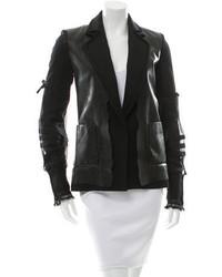 Maison Margiela Maison Martin Margiela Leather Accented Wool Blazer W Tags