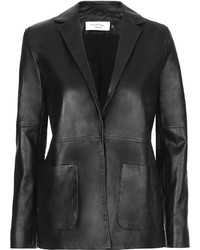 Topshop Marquesalmeida X Made In Britain 100% Leather Do Not Dry Clean Super Soft Leather Blazer Cut In A Relaxed Y Fit With Button Front Fastening And Patch Pockets