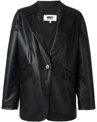 MM6 MAISON MARGIELA Leather Effect Boxy Blazer