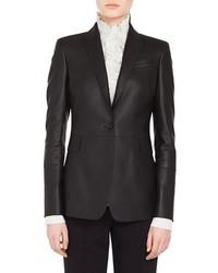 Akris Punto Perforated Leather Blazer