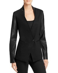 Aqua Ponte Faux Leather Blazer