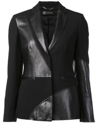 Versace Mixed Material Blazer