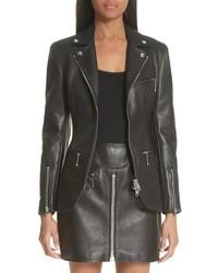 Alexander Wang Zip Front Leather Blazer