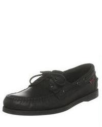 Sebago Docksides Sr Black Boat Shoes