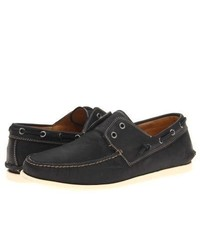 John Varvatos Schooner Boat Slip On Shoes Black