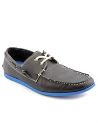 MADDEN MEN Gamer Black Boat Moc Leather Boat Shoes
