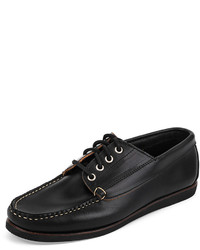 Eastland Made In Maine Falmouth Usa Camp Moc Boat Shoe Black