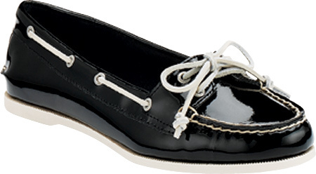 91b3e6ac370 Sperry Top Sider Audrey Black Patent Casual Shoes