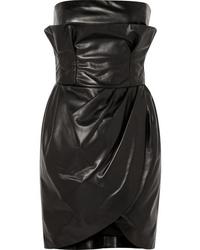 Versace Leather Mini Dress