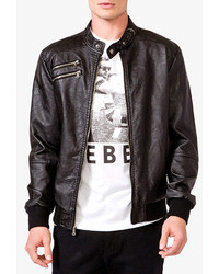 21men 21 Quilted Faux Leather Jacket
