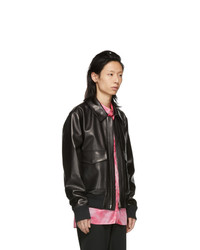 Acne Studios Acne S Black Leather Lazlo Jacket