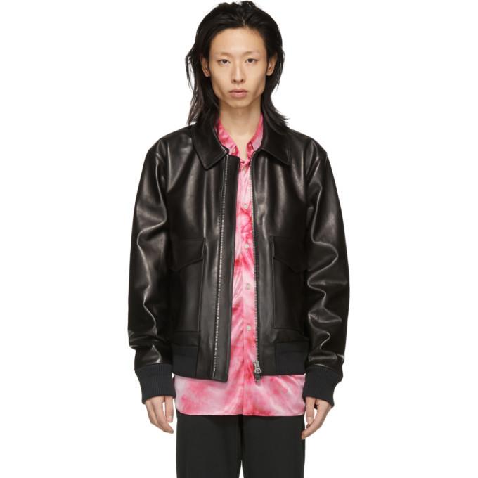 Acne Studios Acne S Black Leather Lazlo Jacket
