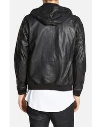 Diesel Akura Hooded Black Leather Jacket Diesel Akura Hooded Black Leather  Jacket ... 5479cf16c6b6