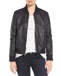 Alastair faux leather bomber jacket medium 1009285