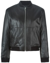Alexander Wang T By Leather Bomber Jacket
