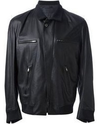 Ann Demeulemeester Leather Bomber Jacket