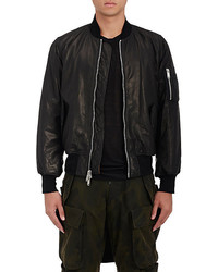 Ben Taverniti Unravel Project Ben Taverniti Unravel Project Graphic Leather Bomber Jacket