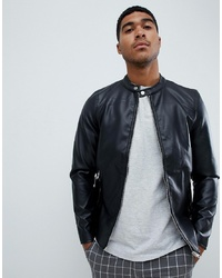 9e8cd2c834693 Men's Black Leather Bomber Jackets from Asos | Men's Fashion ...