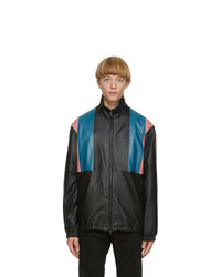 Paul Smith Black 80s Panelled Leather Jacket