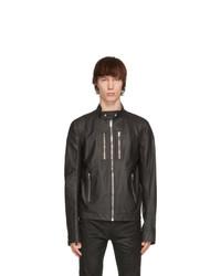 Rick Owens Black Ies Leather Jacket