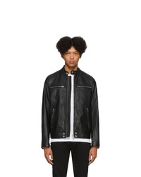Diesel Black Leather L Boy Jacket