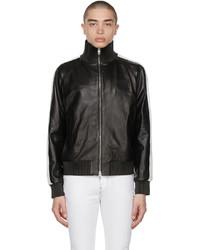 Amiri Black Leather Ma Zip Track Jacket