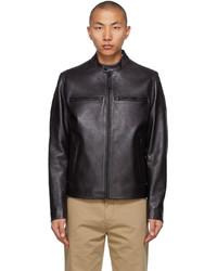 BOSS Black Leather Nadilo Jacket