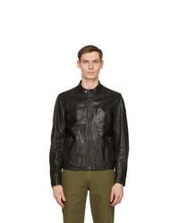 Belstaff Black Leather Pelham Jacket