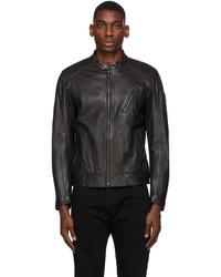 Belstaff Black Leather Racer 20 Jacket