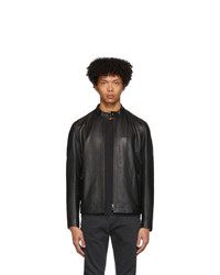 Belstaff Black Leather Reeve Jacket