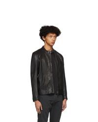 Belstaff Black Leather V Racer 20 Jacket