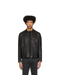Belstaff Black Leather V Racer 20 Jacket