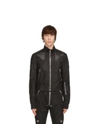 Rick Owens Black Performa Leather Jacket
