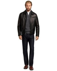 Brooks Brothers Elliot Leather Bomber